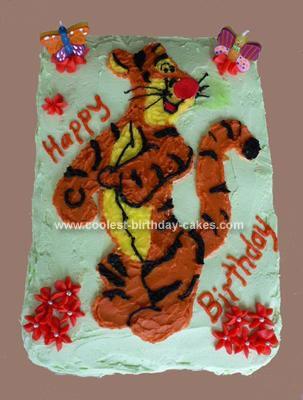 Homemade Tigger Birthday Cake