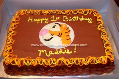 Homemade Tigger Cake