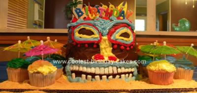 Homemade Tiki Cake