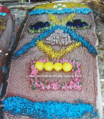 Homemade Tiki Man Cake