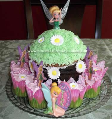 Homemade Tinker Bell Cake