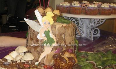 Homemade Tinker Bell Trunk Cake