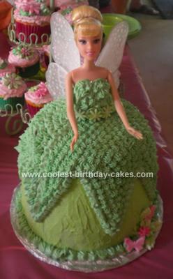 Homemade Tinkerbell 3rd Birthday Cake