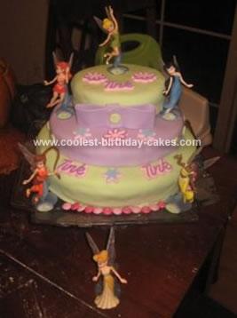 Homemade Tinkerbell and Fairies Cake