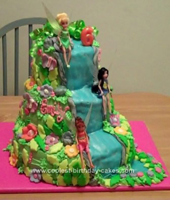 Homemade Tinkerbell and Friends Cake Design
