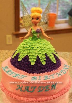 HomemadeTinkerbell Birthday Cake