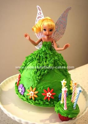 Enjoyable Coolest Tinkerbell Birthday Cake Personalised Birthday Cards Cominlily Jamesorg