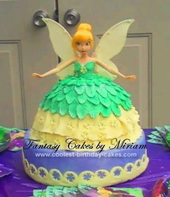 Homemade Tinkerbell Birthday Cake Design