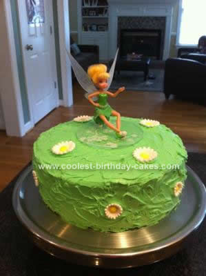 Phenomenal Coolest Tinkerbell Birthday Cake Idea Funny Birthday Cards Online Alyptdamsfinfo