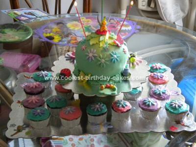 Homemade Tinkerbell Bithday Cake