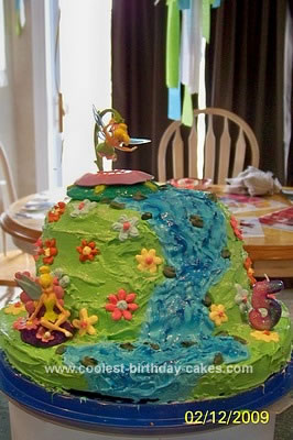 Homemade Tinkerbell Cake In Pixie Hollow