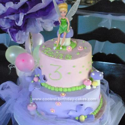 Homemade Tinkerbell Cake