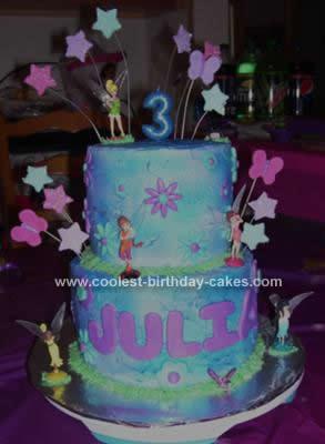 Homemade Tinkerbell Cake Design