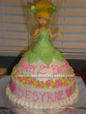 Homemade Tinkerbell Cake Design