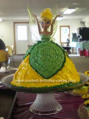 Homemade Tinkerbell Doll Cake Idea