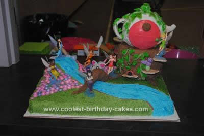 Homemade Tinkerbell Fairy Cake