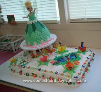 Homemade Tinkerbell & Friends Cake