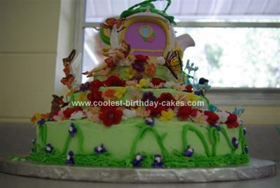 Tinkerbell Garden Birthday Cake
