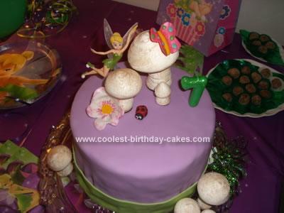 Homemade Tinkerbell Mushroom Cake