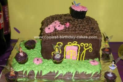 Homemade Tinkerbell with Fairy Friends Cake