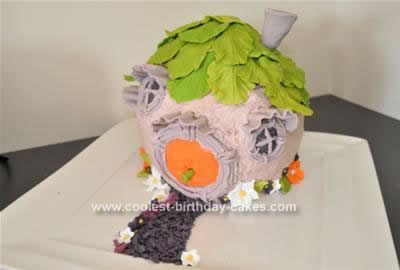 Homemade Tinkerbell's House Birthday Cake