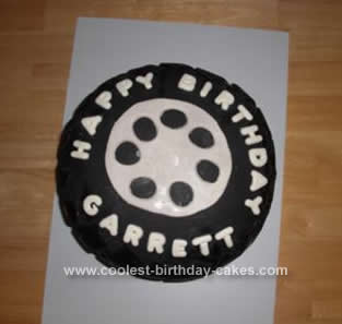 Homemade Tire Cake