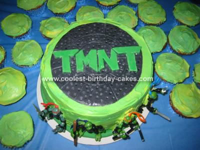 For My Sons 5th Birthday Day He Wanted A Ninja Turtle Cake So I Got To Looking Online An Original Make Own Him