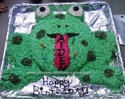 Homemade Toad Birthday Cake