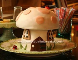Homemade Toadstool Birthday Cake