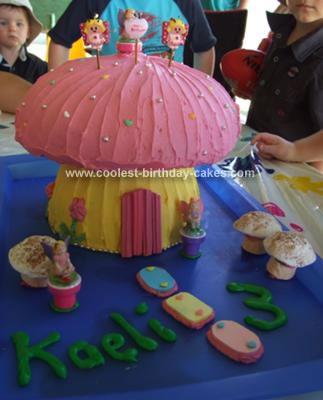 Homemade Toadstool Birthday Cake