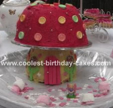 Bella's Magic Fairy House Toadstool Cake