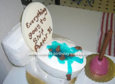 Toilet and Plunger Cake