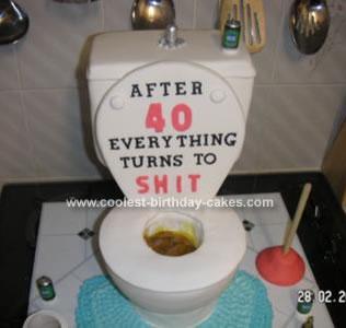 Homemade Toilet Birthday Cake