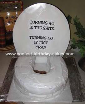 Toilet Birthday Cake