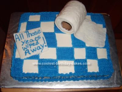 Homemade Toilet Paper Birthday Cake