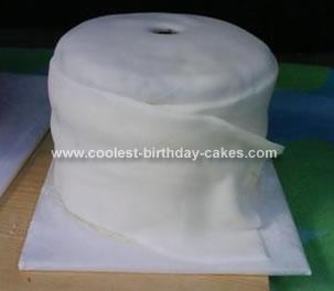 Homemade Toilet Paper Cake