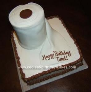 Homemade Toilet Paper Roll Birthday Cake