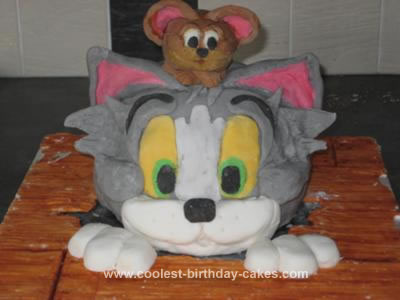Homemade Tom and Jerry Cake