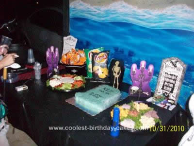 Homemade Tombstone Halloween Wedding Cake Design