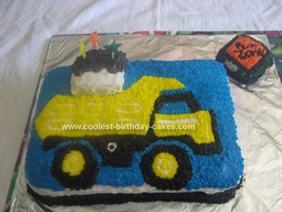 Homemade  Tonka Truck Birthday Cake
