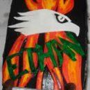 Homemade Tony Hawk Skateboard Cake