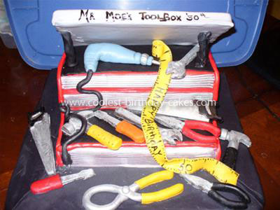 Coolest Toolbox Birthday Cake