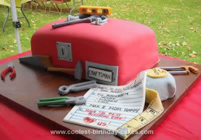 Homemade Toolbox Birthday Cake