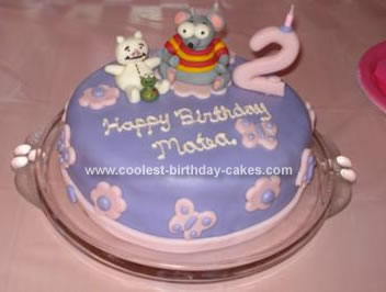 Homemade Toopy and Binoo Birthday Cake