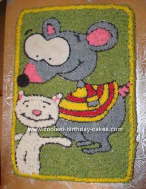 Homemade Toopy And Binoo Cake
