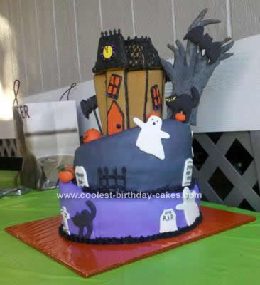 Homemade Topsy Turvey Halloween Birthday