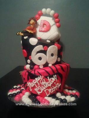 Homemade Topsy Turvy 60th Birthday Cake