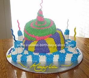 Homemade Topsy Turvy Cake