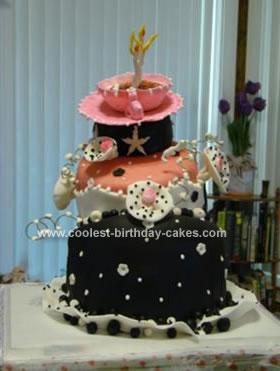 Homemade Topsy Turvy Crazy Birthday Cake