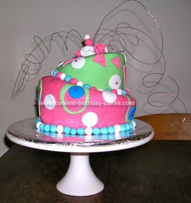 Homemade Topsy Turvy Seuss Cake